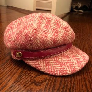 Coach Newsboy Wool Pink Hat